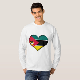 Mozambique Heart Flag T-Shirt