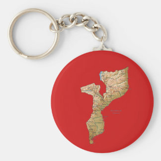 Mozambique Map Keychain