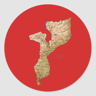 Mozambique Map Sticker
