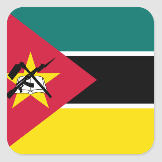 Mozambique National World Flag Square Sticker