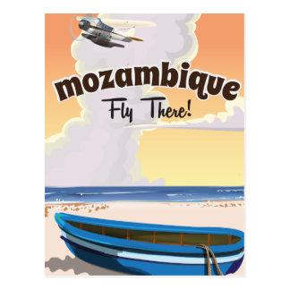 Mozambique travel poster print postcard