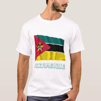 Mozambique Waving Flag with Name T-Shirt