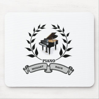 Mozart and Bach piano Mouse Pad