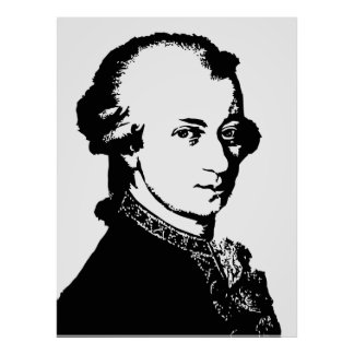 Mozart Black and white vector art Poster