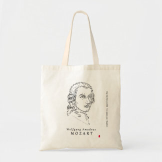 Mozart Face the Music Budget Tote Bag