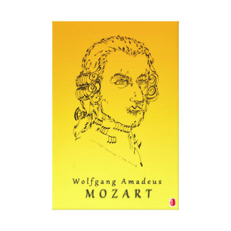 Mozart Face the Music Canvas Print