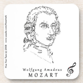 Mozart Face the Music Drink Coasters