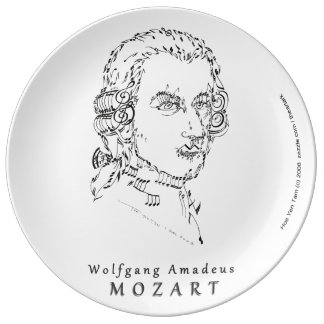 Mozart Face the Music Porcelain Plate