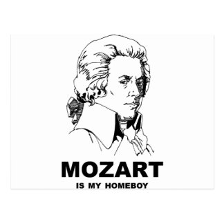 Mozart Is My Homeboy Postcard