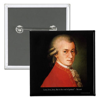 """Mozart """"Love Love Love"""" Quote Gifts & Collectibles Buttons"""