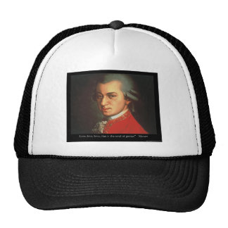 """Mozart """"Love Love Love"""" Quote Gifts & Collectibles Trucker Hat"""