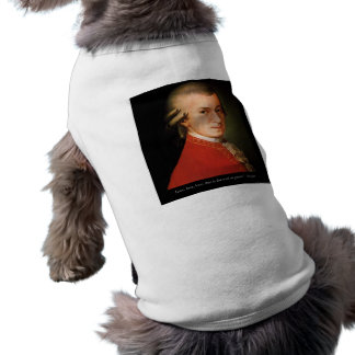 """Mozart """"Love Love Love"""" Quote Gifts & Collectibles Sleeveless Dog Shirt"""