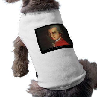 "Mozart ""Love Love Love"" Quote Gifts & Collectibles Sleeveless Dog Shirt"