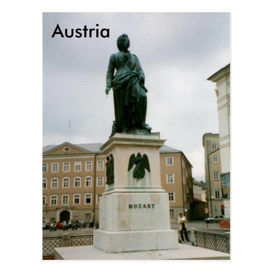 Mozart Monument, Mozartplatz, Salzburg, Austria Postcard