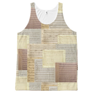 Mozart Music Manuscript Medley All-Over Print Tank Top