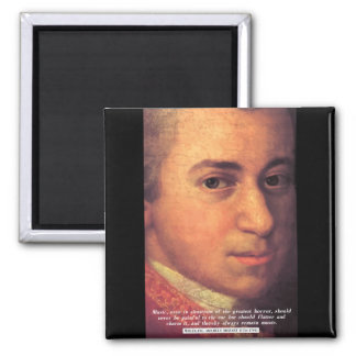 Mozart 'Music' quote magnet