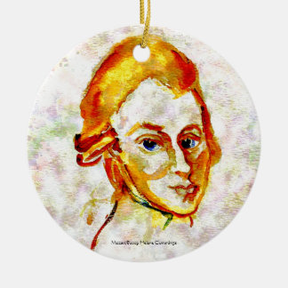 Mozart Portrait One Christmas Ornament
