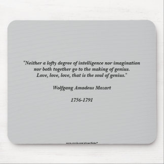 Mozart Quote Mouse Mats