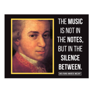 Mozart Quote on Music Postcard