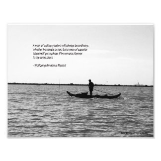Mozart travel quote poster photographic print