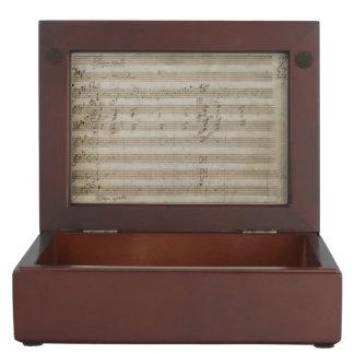 Mozart Violin Concerto Music Manuscript Memory Boxes