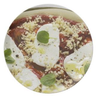Mozzarella pizza (unbaked) plate