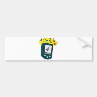 mp3 player design bumper sticker