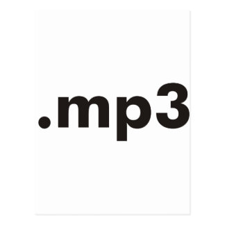 mp3 products designs postcard