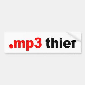 MP3 THIEF BUMPER STICKERS