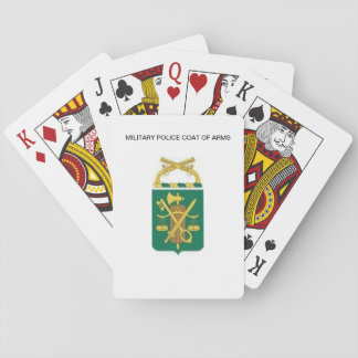 MP COAT OF ARMS PLAYING CARDS