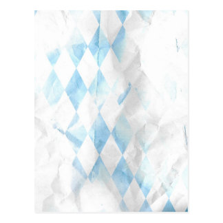 MPAW BLUE WHITE ARGLE WRINKLE PATTERN BACKGROUNDS POST CARD