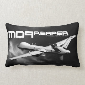 "MQ-9 Reaper Polyester Lumbar Pillow 13"" x 21"" Cushions"