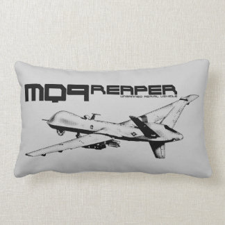 "MQ-9 Reaper Polyester Lumbar Pillow 13"" x 21"" Throw Cushion"