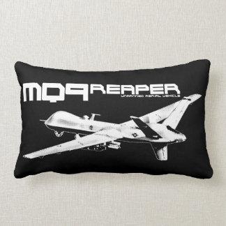 "MQ-9 Reaper Polyester Lumbar Pillow 13"" x 21"" Throw Cushions"