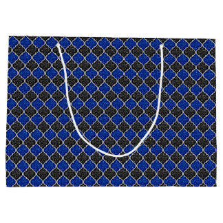 MQF Sequins-BLACK-BLUE-SILVER-GIFT BAG L