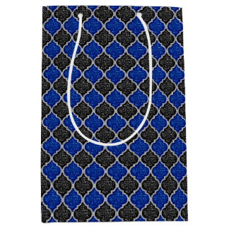 MQF Sequins-BLACK-BLUE-SILVER-GIFT BAG M