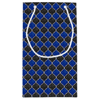 MQF Sequins-BLACK-BLUE-SILVER-GIFT BAG S