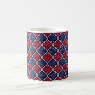 MQF Sequins-Blue-Raspberry-Silver-11oz Coffee Mug