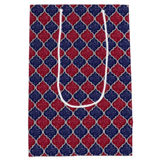 MQF Sequins-Blue-Raspberry-Silver-GIFT BAG M