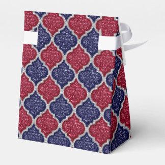 MQF-Sequins-Blue-Raspberry-Silver-Tent Favor Box Wedding Favour Boxes