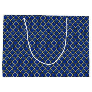 MQF Sequins-Blue-Yellow-GIFT BAG L