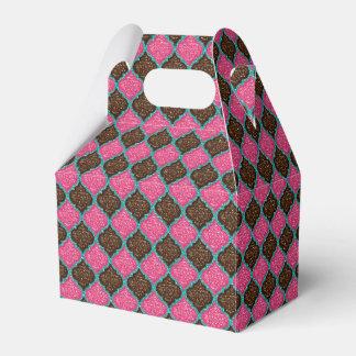 MQF-Sequins-Pink-Chocolate-Aqua-Gable Favor Boxes Favour Boxes