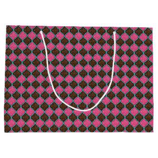 MQF Sequins-Pink-Chocolate-Aqua-GIFT BAG L