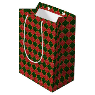 MQF Sequins-Red-Dark Green-Gold-GIFT BAG M