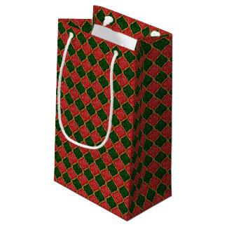 MQF Sequins-Red-Dark Green-Gold-GIFT BAG S