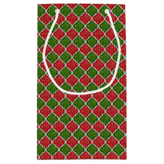 MQF Sequins-RED-WHITE-GREEN-GIFT BAG S