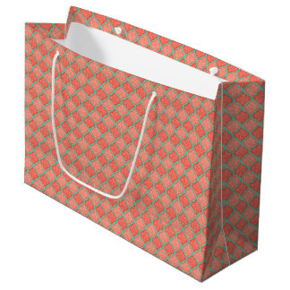 MQF Sequins-TANGERINE-MINT-GIFT BAG L