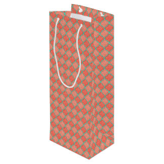 MQF Sequins-TANGERINE-MINT-WINE GIFT BAG