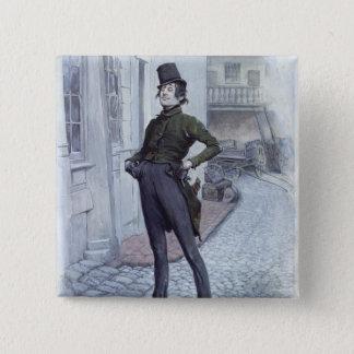 Mr. Alfred Jingle 15 Cm Square Badge