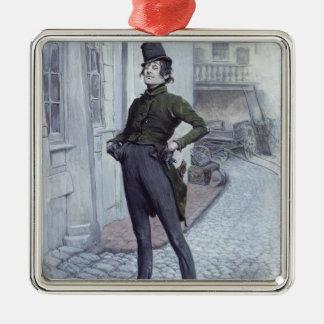 Mr. Alfred Jingle Silver-Colored Square Decoration